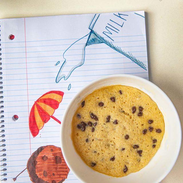 Microwave Chocolate Chip Cookie