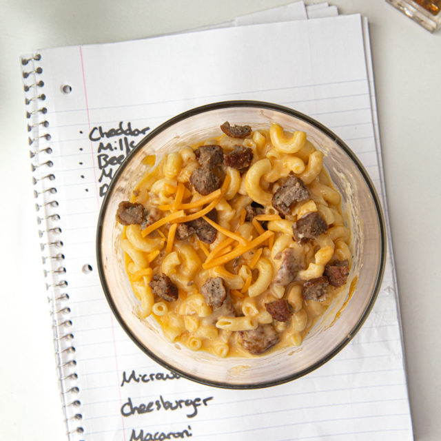 Microwave Cheeseburger Mac and Cheese