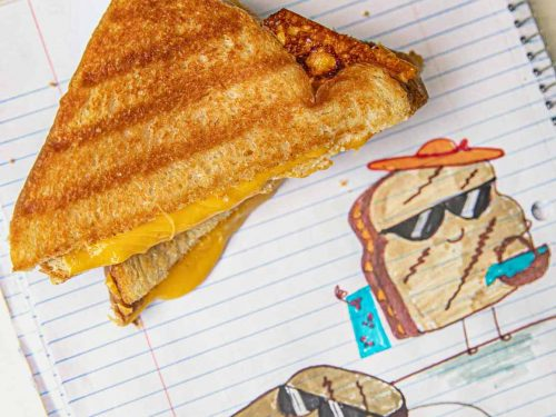 Microwave Crispy Grilled Cheese