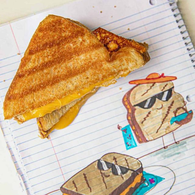 Microwave Grilled Cheese