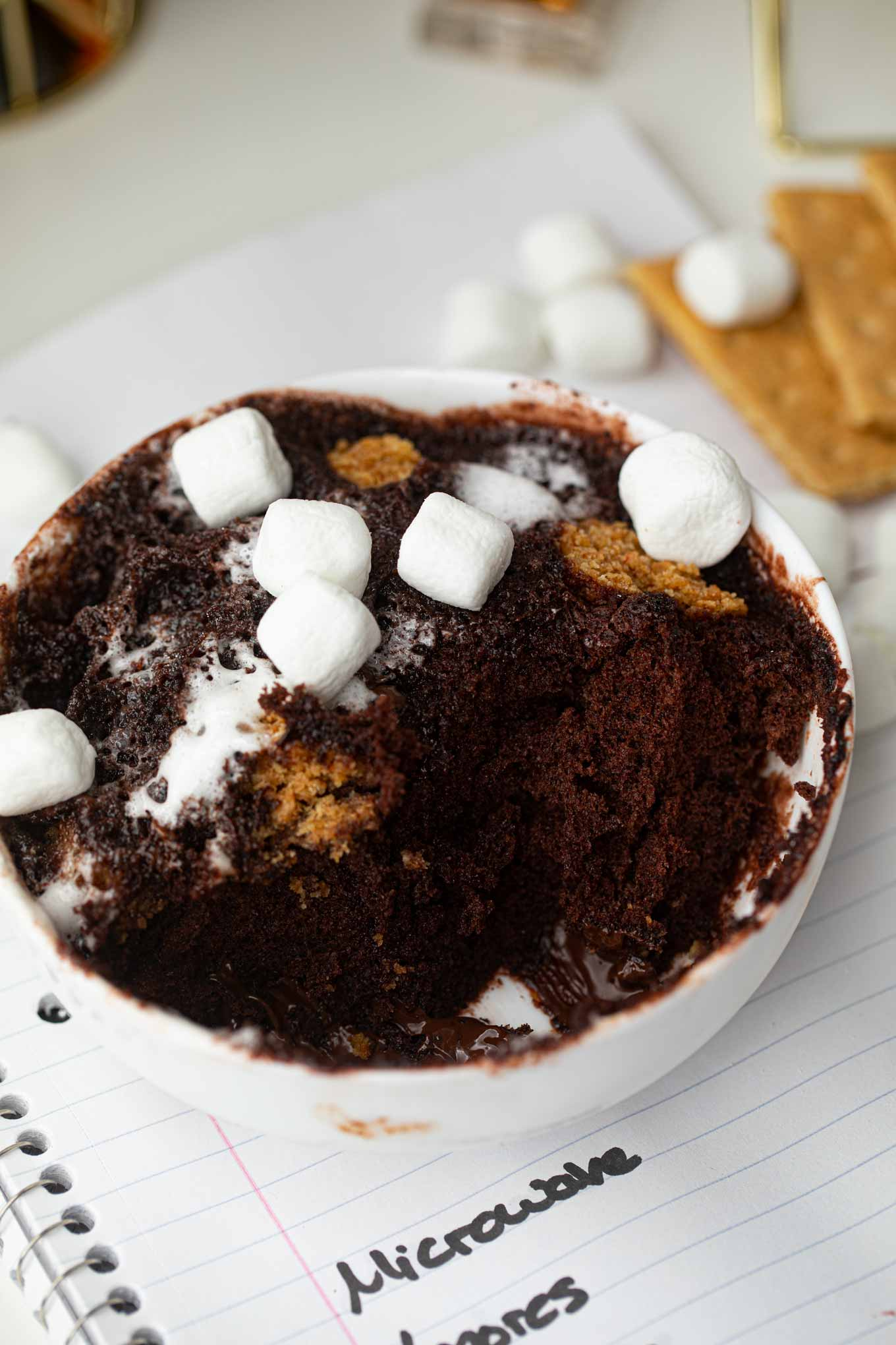 S'mores Chocolate Cakes