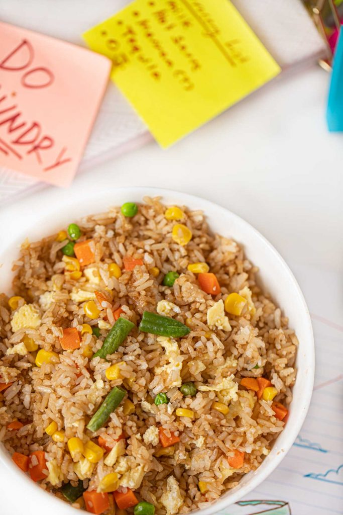 Microwave Egg Fried Rice