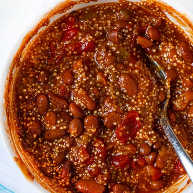 Microwave Quinoa Vegetarian Chili