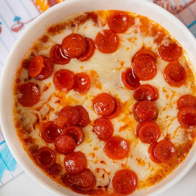 Microwave Pepperoni Pizza Dip