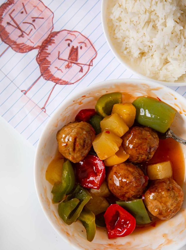 Sweet and Sour Beef Meatballs made in Microwave