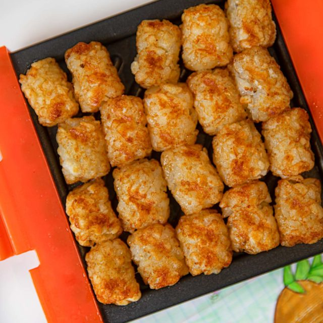 Crispy Tater Tots made in a Microwave