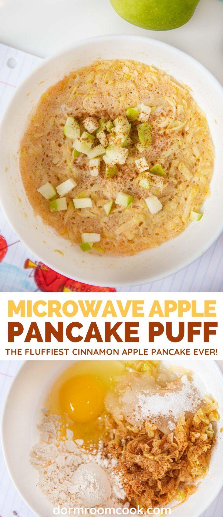 Easy fluffy Apple Pancake Puff