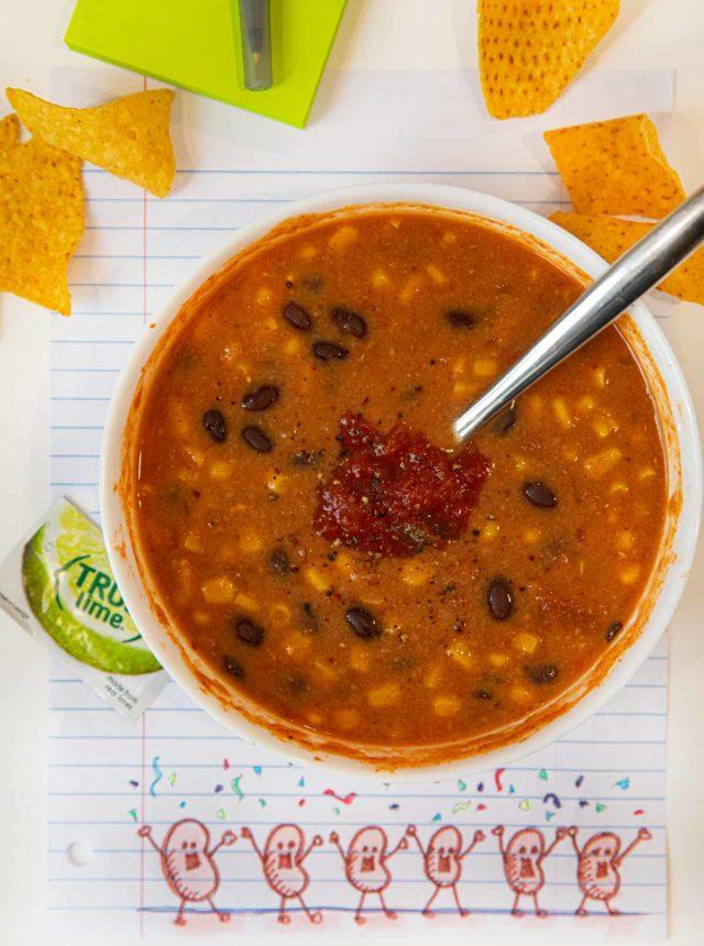 Microwave Black Bean Soup