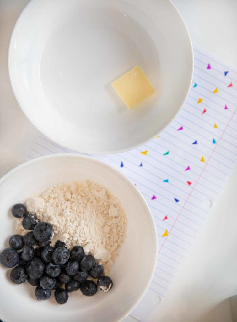 Ingredients for Microwave Blueberry Pancake