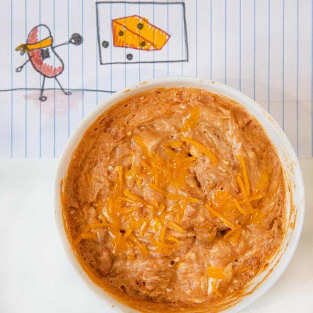 Microwave Bean Cheese Dip