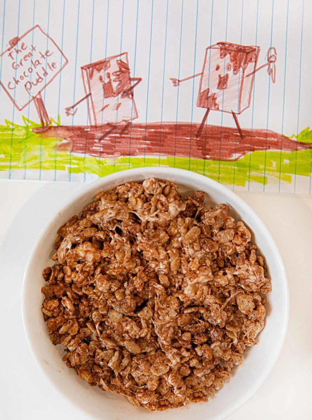 Microwave Nutella Rice Krispies Treats
