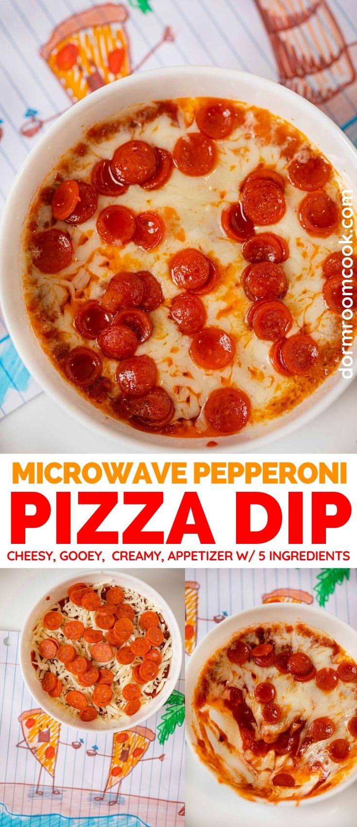 Cheesy microwave pizza dip