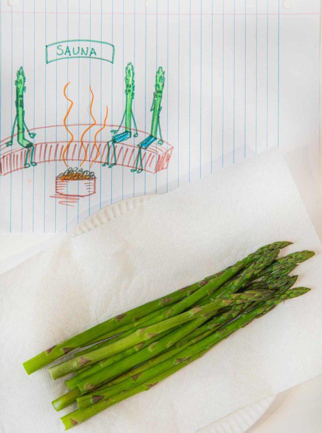 Microwave Steamed Asparagus