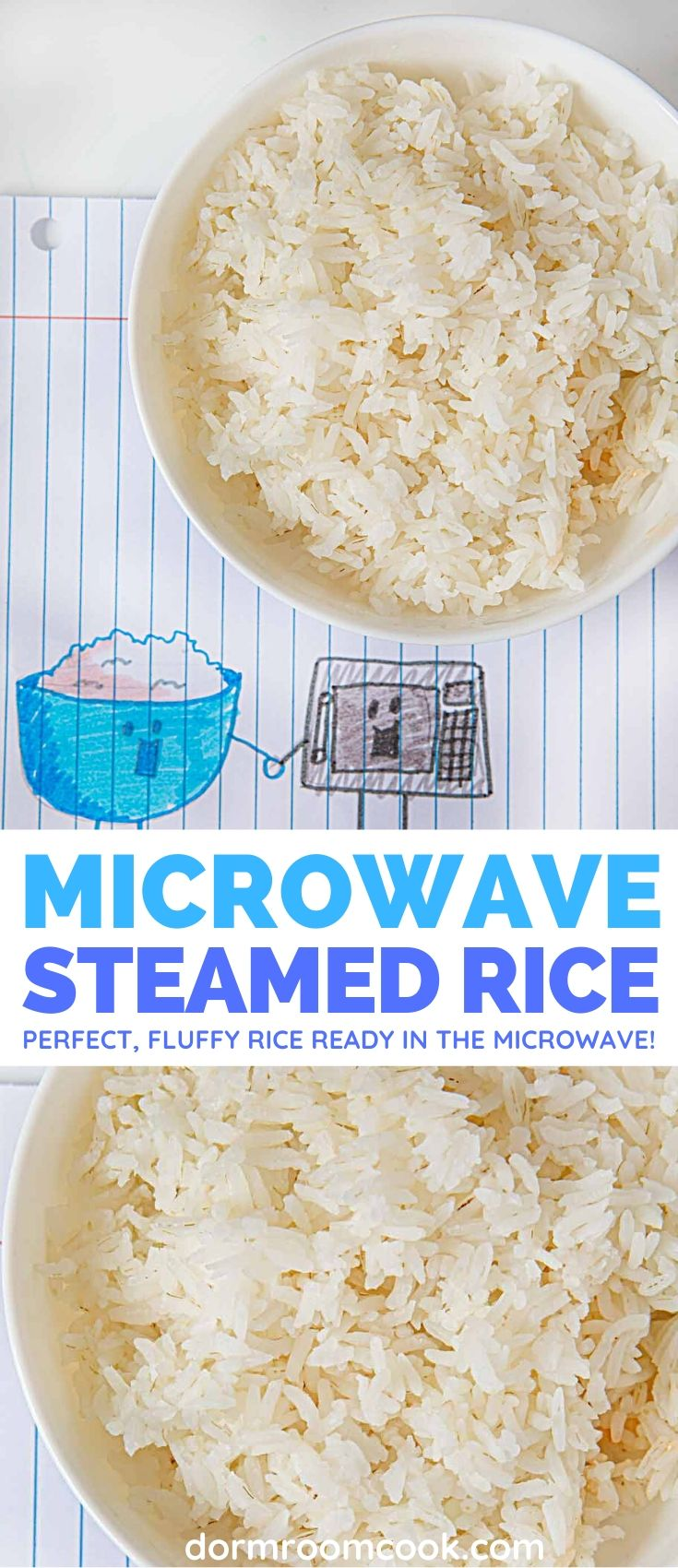 Easy Microwave Steamed Rice