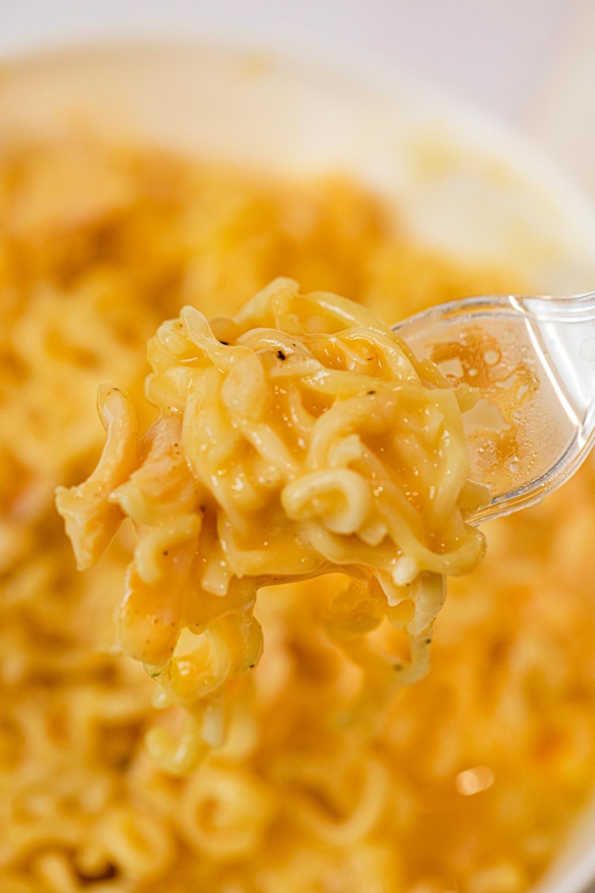 Creamy Cheesy Chicken Ramen in bowl
