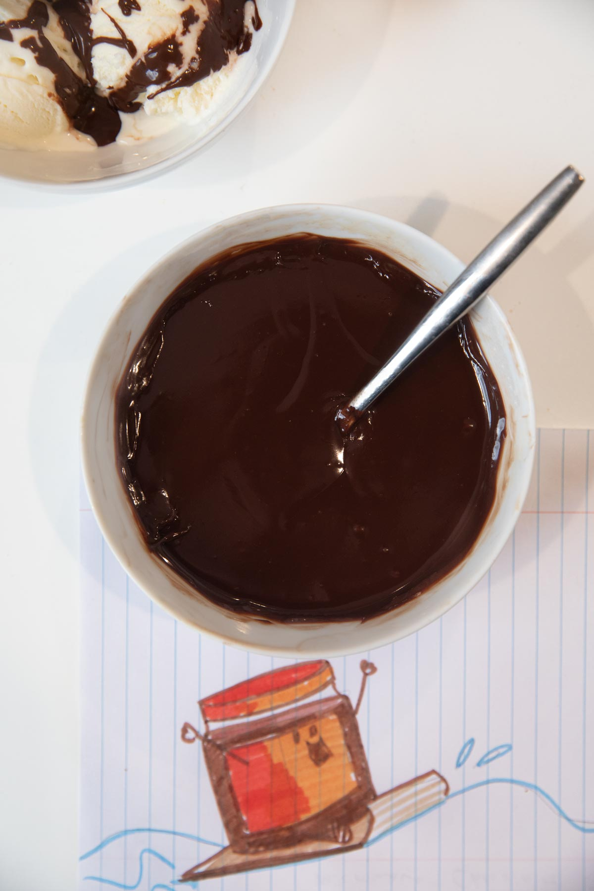 Microwave Chocolate Sauce in bowl