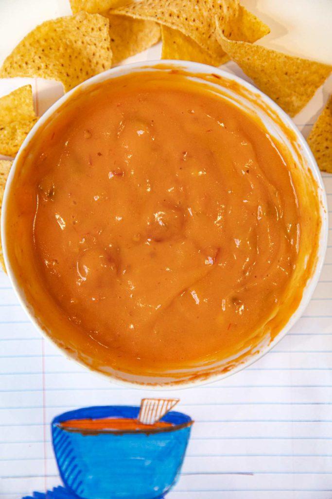 Microwave 2 Ingredient Queso Dip